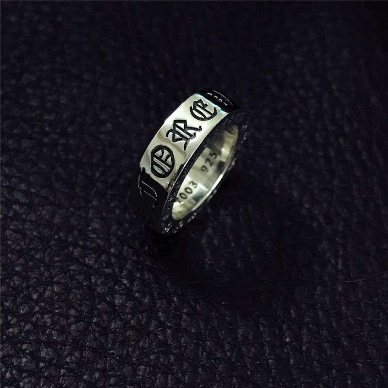 【chrome hearts】6mm系列 【forever】戒指 s925銀